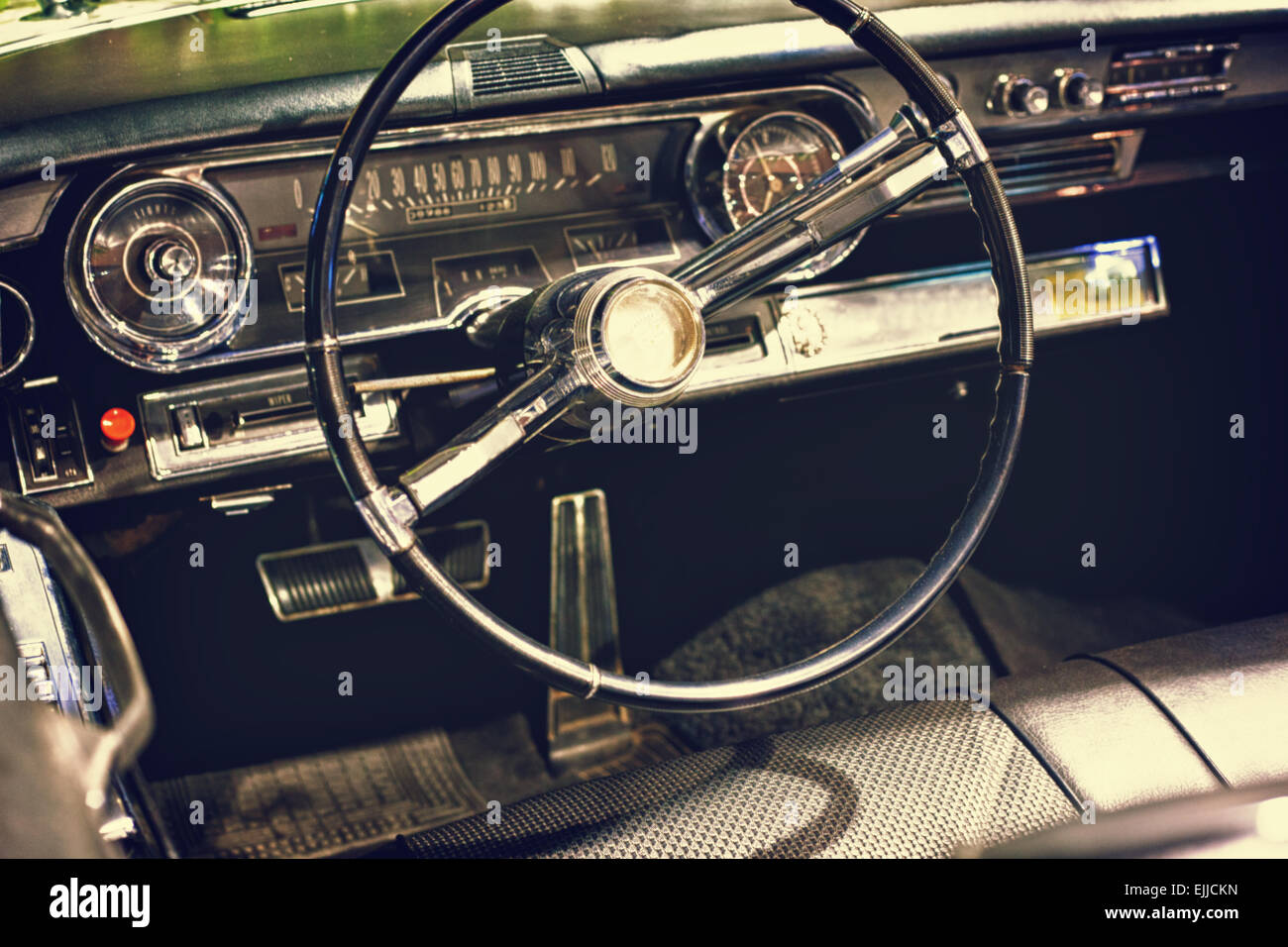 Muscle Car Wallpaper Pack Ownload Old Vintage Classic Black Car Steering Wheel And Dashboard