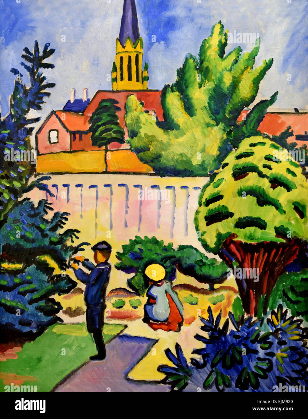 Kinderspielplatz Im Garten Kinder Im Garten Children In The Garden 1912 August Macke Stock