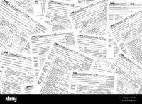 income tax forms background Stock Photo: 80598667