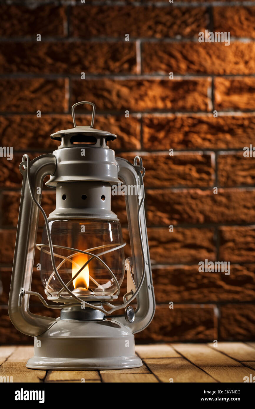 Diy Kerosene Lamp Oil Lamp On Table Stock Photos Oil Lamp On Table Stock Images