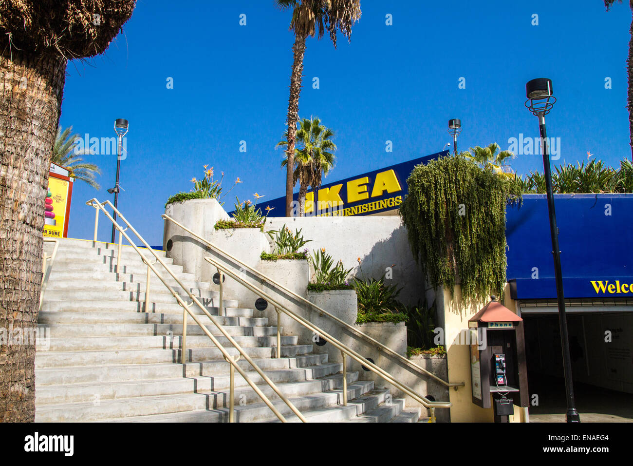 Ikea Palm Tree The Ikea Store In Burbank California With Palm Trees Stock Photo