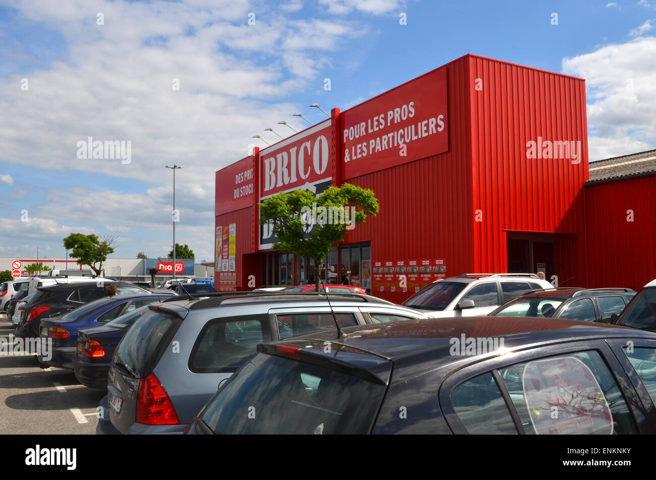 Pack Complet Terrasse Composite Brico Depot Diy Store France Stock Image With Lame