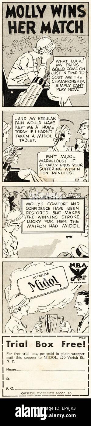 1930s Vintage American magazine advertisement dated November 1933