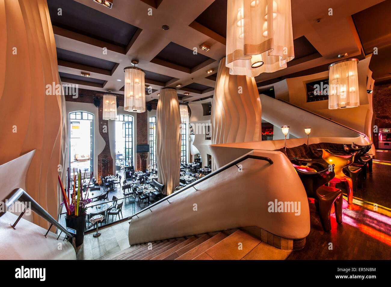 East Hotel Hamburg Restaurant Of The East Hotel, At St. Pauli Hamburg, Hamburg, Germany Stock Photo - Alamy