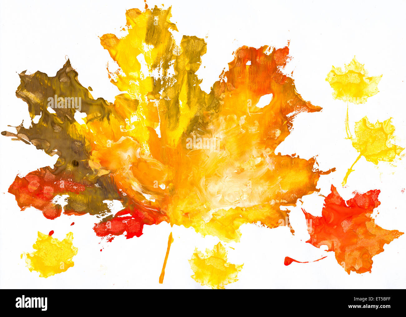 Fall Leaves Watercolor Wallpaper Autumn Leaves Watercolor Print On Paper Child Drawing