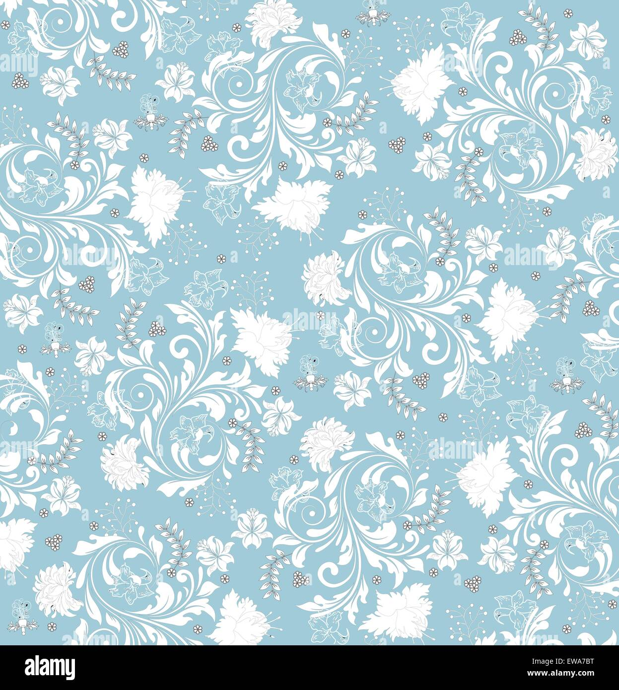 Blue Modern Wallpaper Texture Vintage Background With Ornate Elegant Retro Abstract