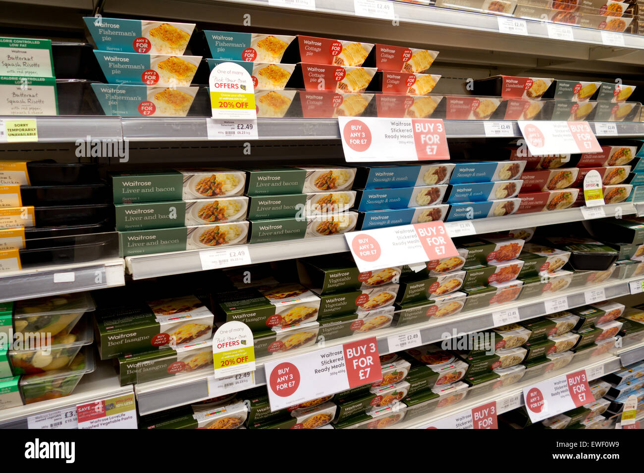 Ready Meals For Sale On Fridge Shelves Waitrose