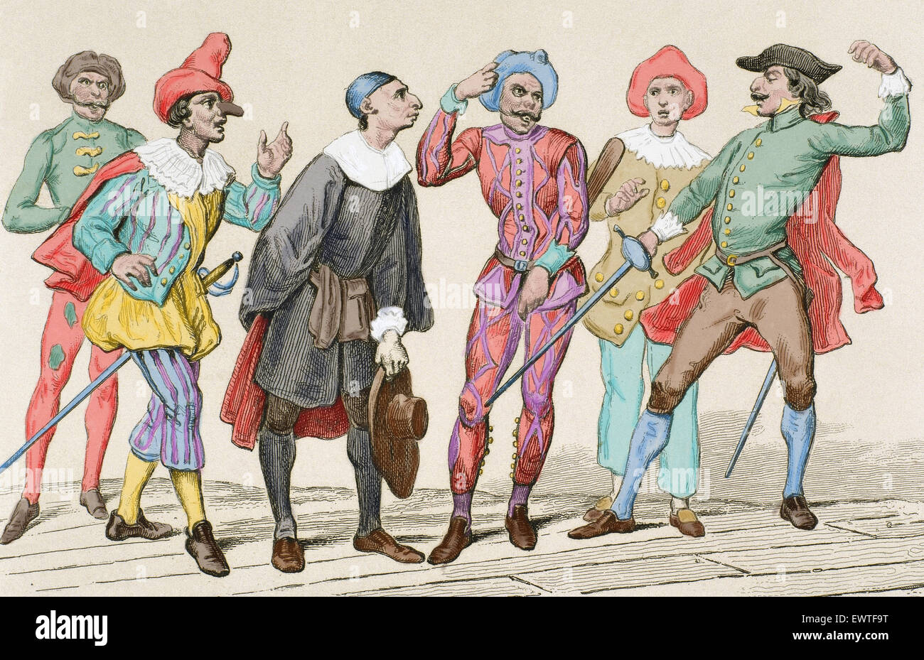 Commedia Dell'arte Word Meaning Italian Commedia Dellarte Stock Photos Italian Commedia Dellarte