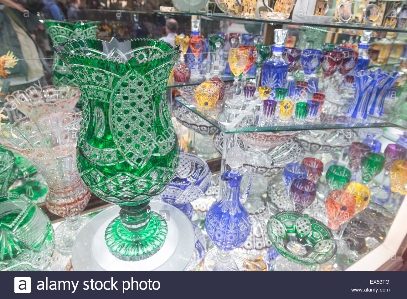 Prague Glass A Display Of Bohemian Crystal Glass In The