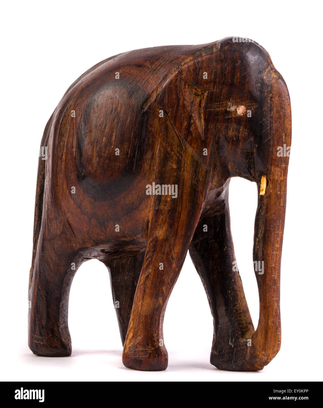 Wooden Elephants Figurines Wooden Elephant Figurine From Thailand Stock Photo