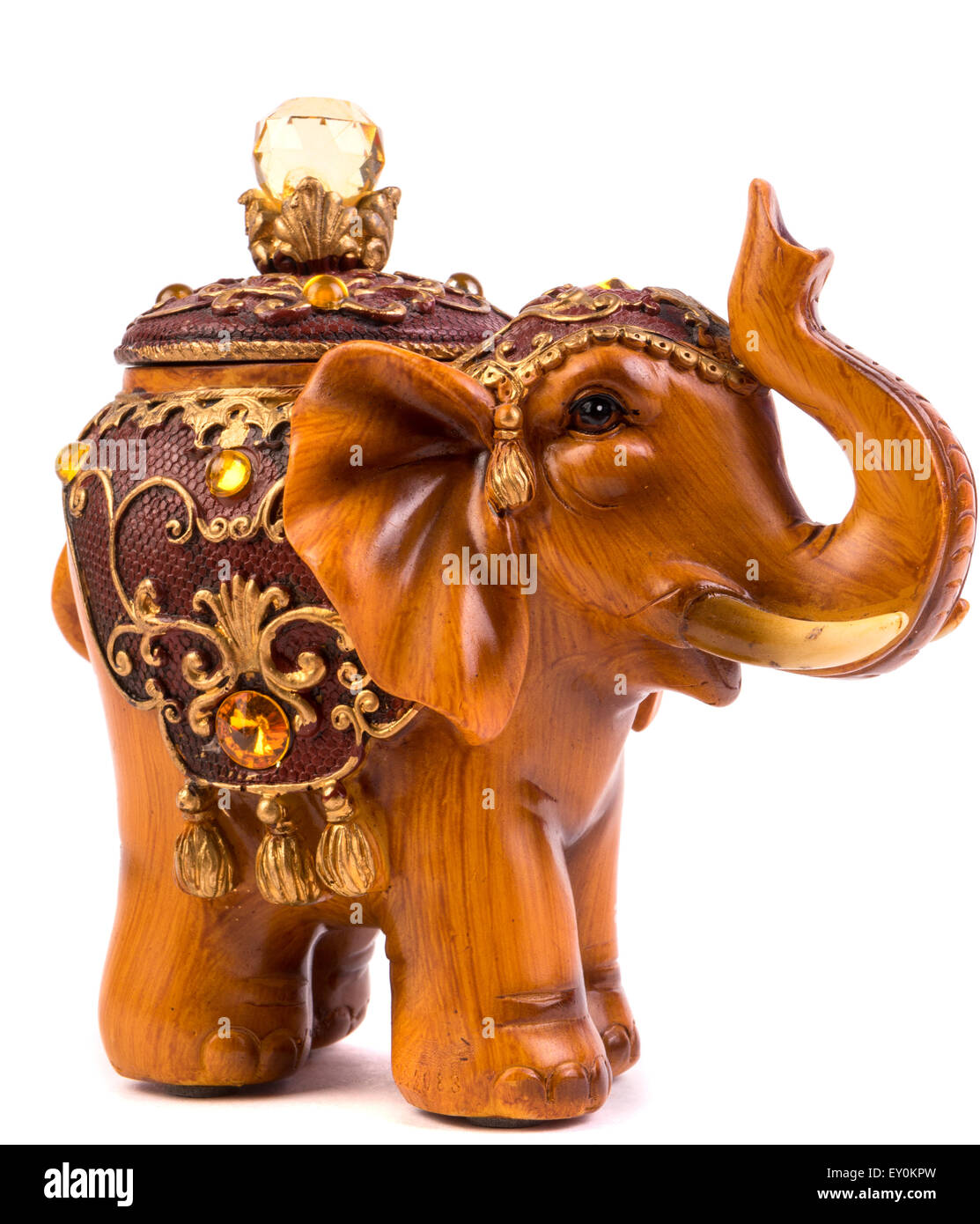 Wooden Elephants Figurines Wooden Elephant Figurine From Thailand Stock Photos