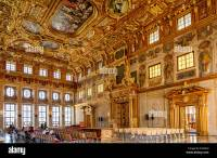 Golden Hall with coffered ceiling and portals, Ceremonial ...
