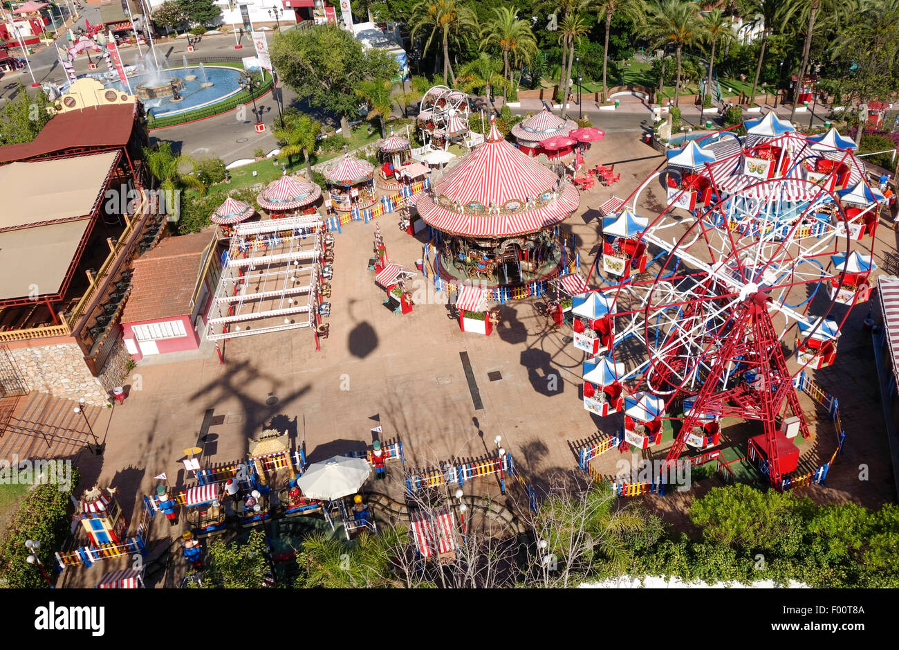 Tivoli Park Rides Aerial View Of Tivoli World Amusement Park, Benalmadena