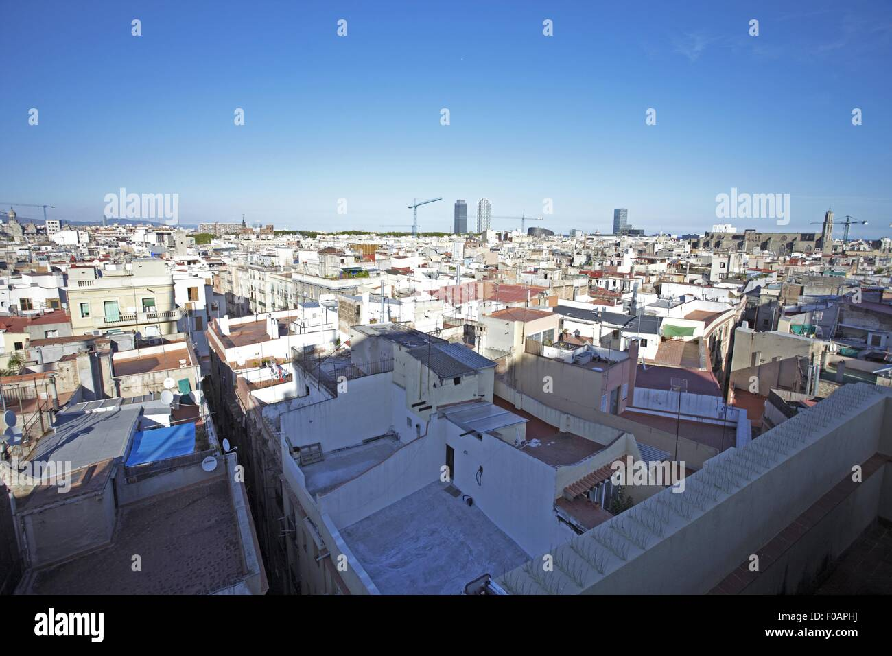 Grand Hotel Central Barcelona View Of A Cityscape With Grand Hotel Central In Barcelona, Spain Stock Photo - Alamy
