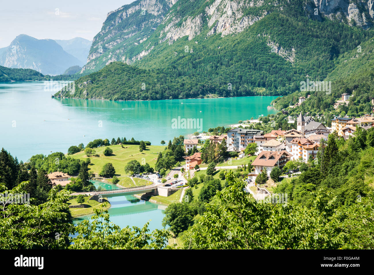 Molveno Camping Lake Of Molveno Stock Photos Lake Of Molveno Stock Images Alamy