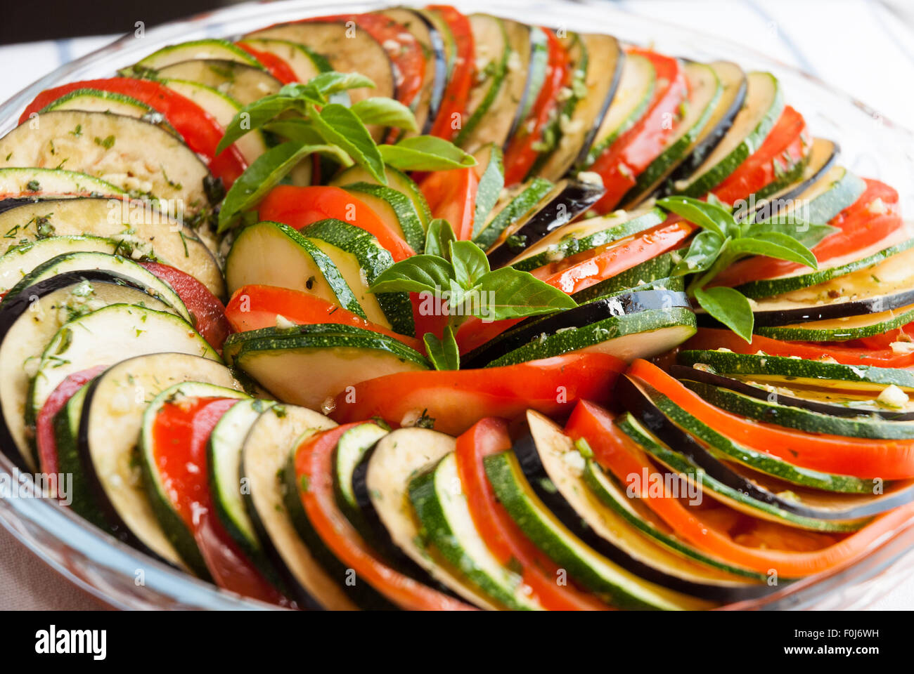 French Provincial Cuisine Cooking Of Ratatouille Traditional French Provencal