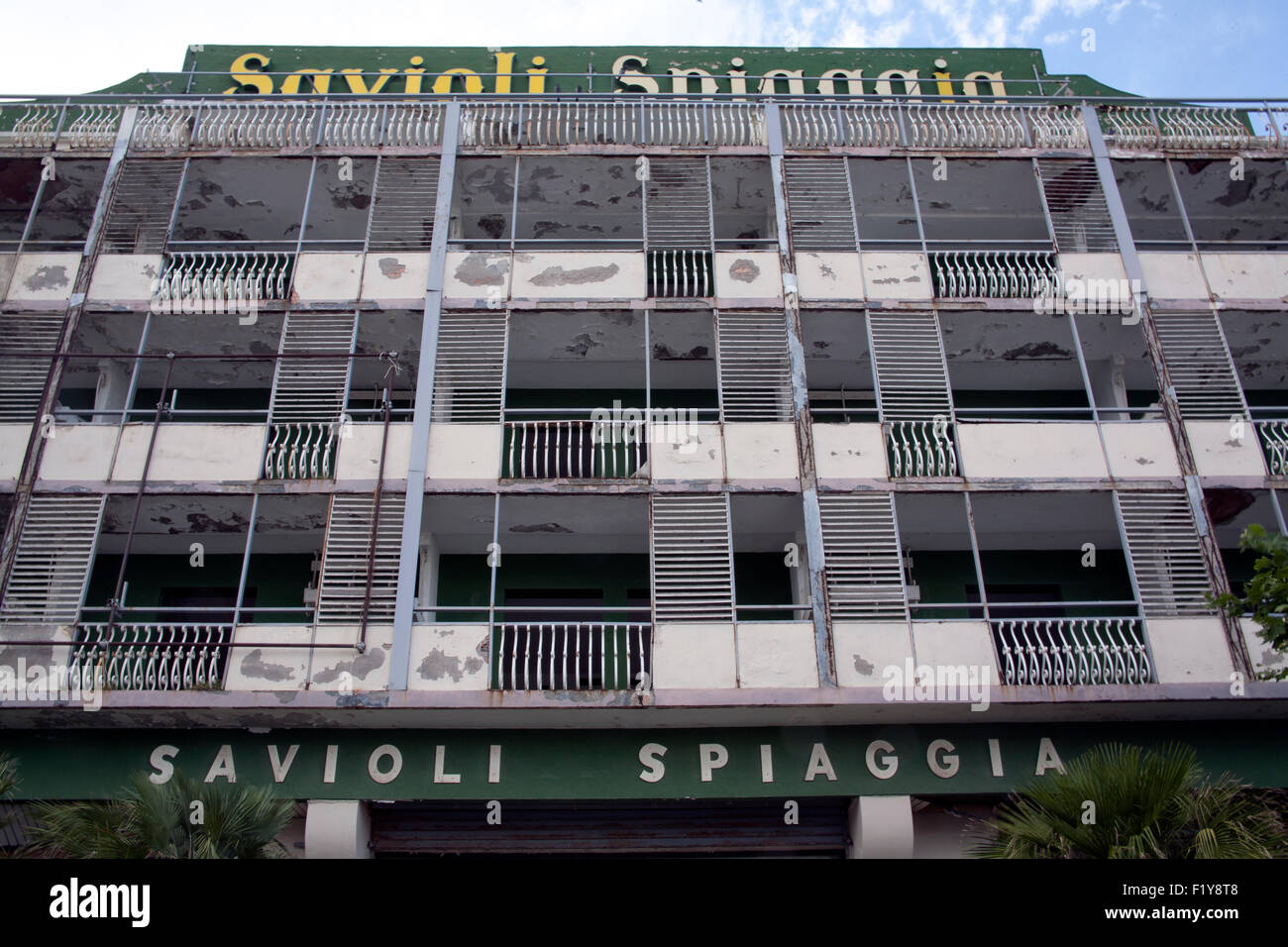 Albergo York Riccione Closed Down Hotel Stock Photos Closed Down Hotel Stock Images