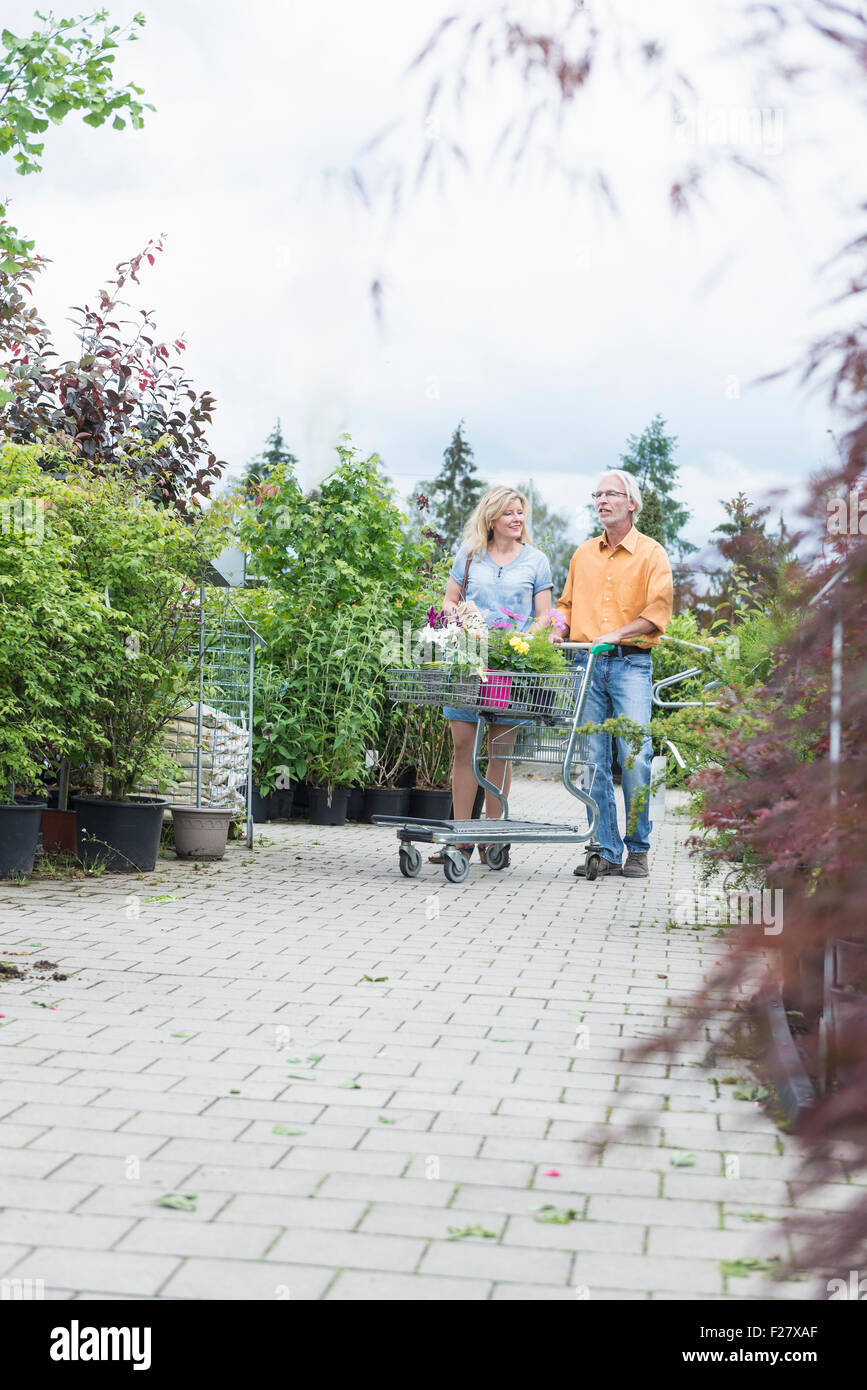 Augsburg Shopping Mature Couple Shopping In Plant Nursery Augsburg Bavaria