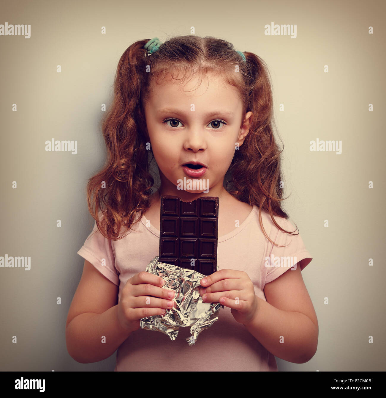 Vintage Looking Fan Child Eating Chocolate Vintage Stock Photos And Child Eating