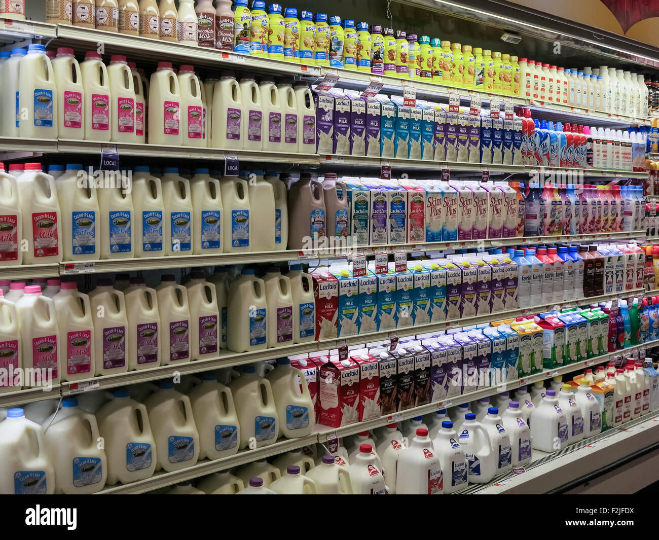 Fairway Shop Dairy Aisle Fairway Super Market New York City Usa