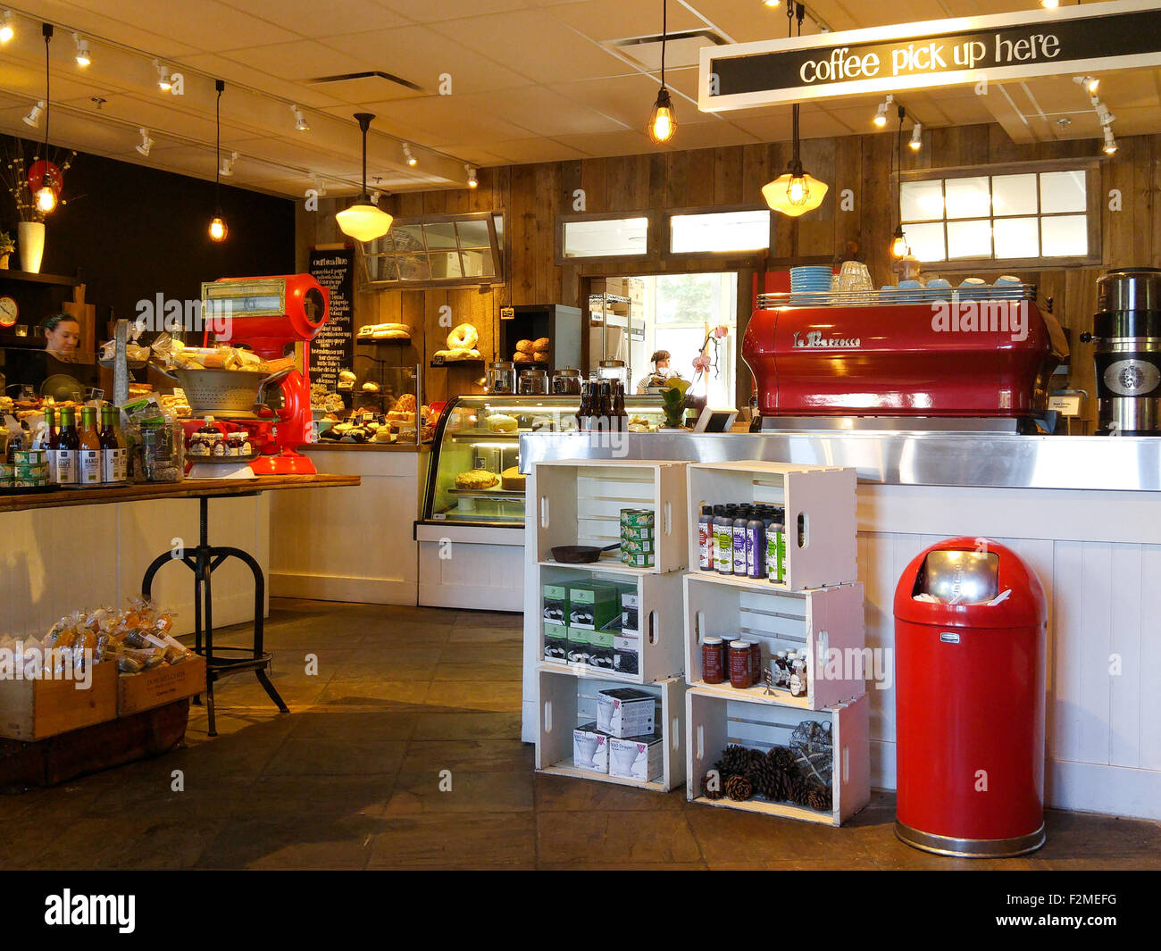 Inside Of An Old Fashioned Coffee Shop Bakery With Retro