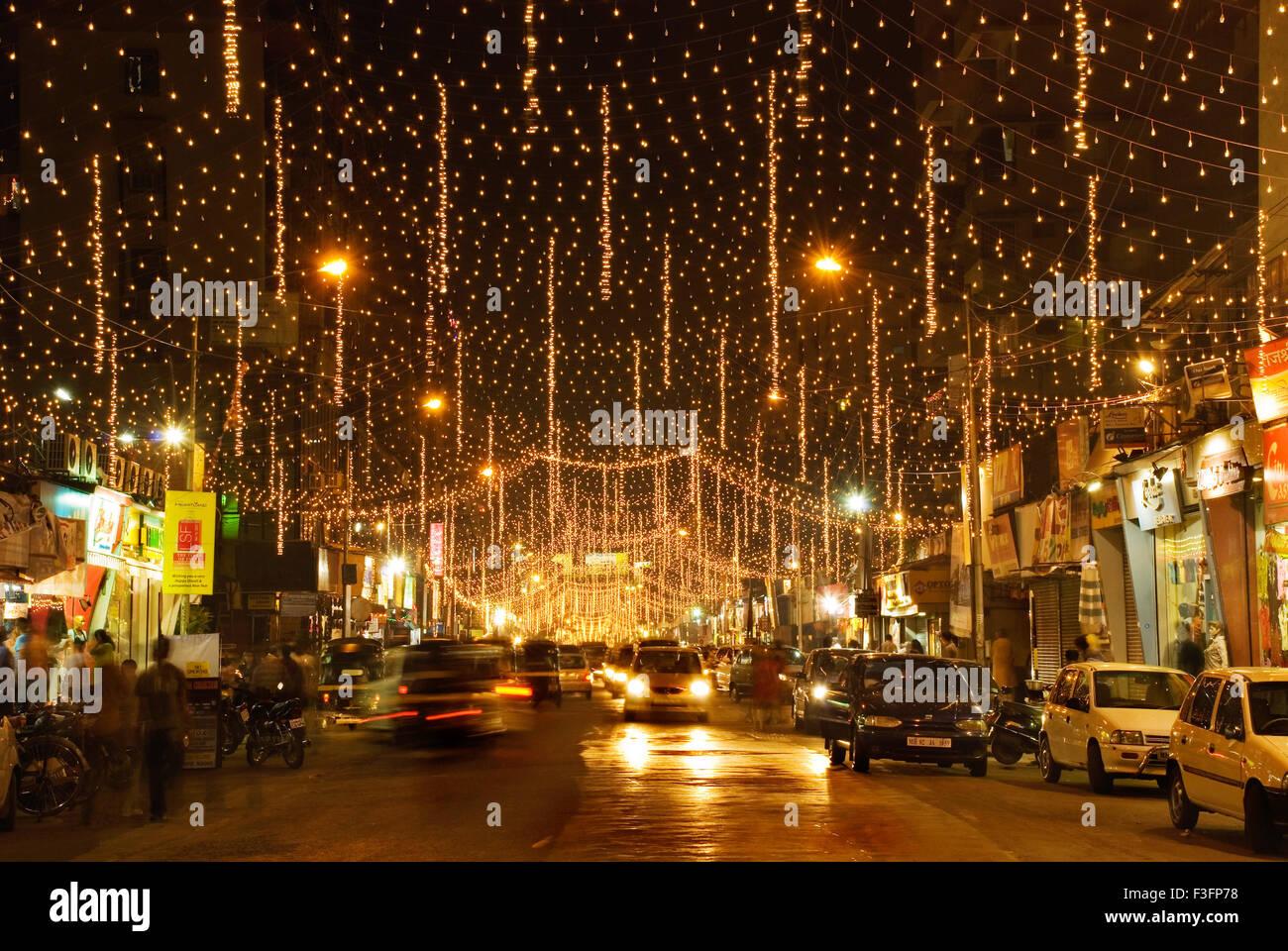 Hd Wallpaper Diwali Light Diwali Festivities A Street In Lokhandwala Andheri