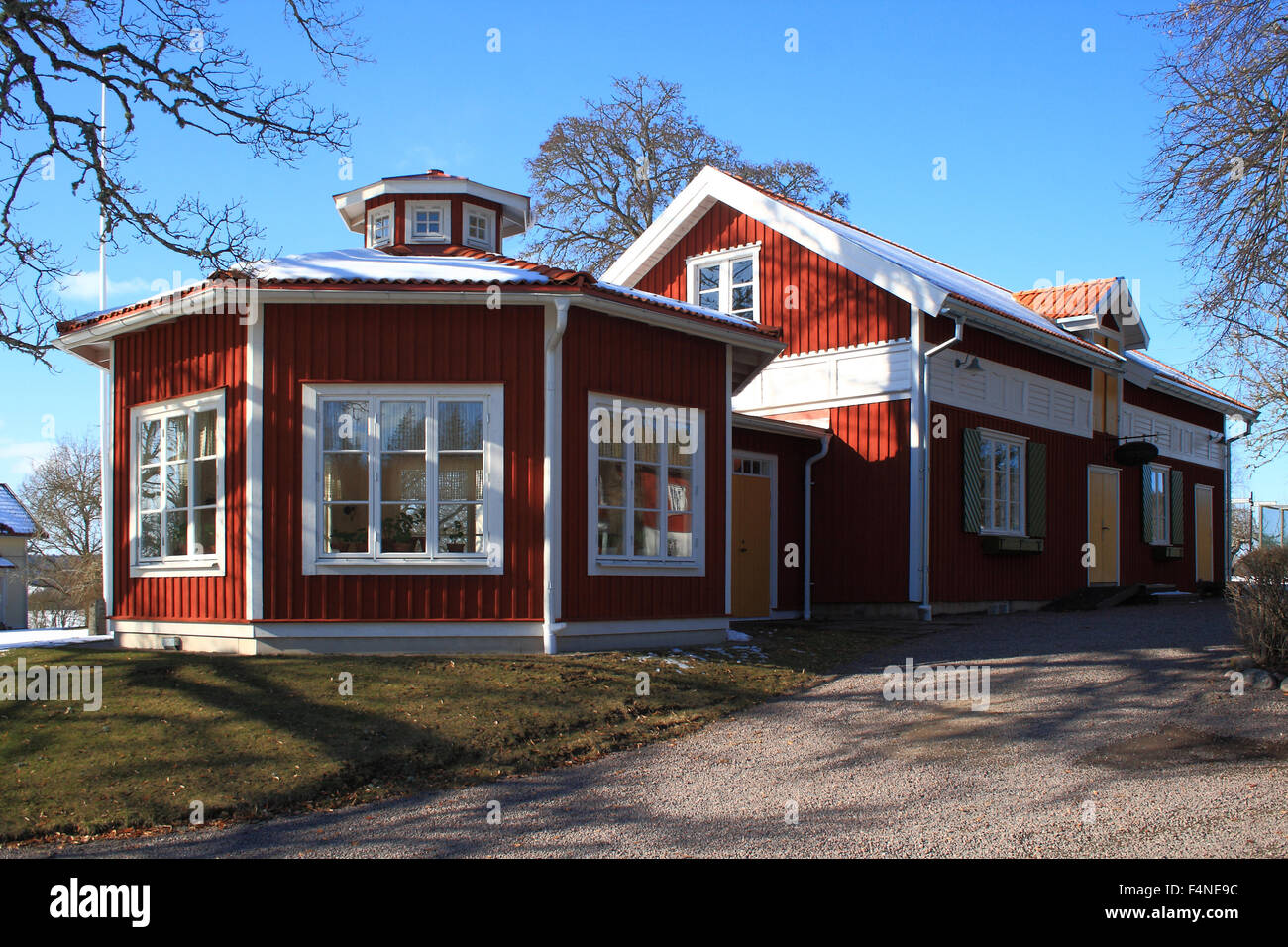 Zweedse Huisjes Swedish Red Houses Is The Typical Deep Red Colour In The