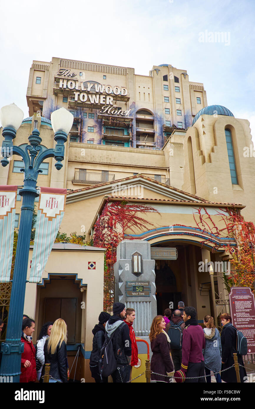 Temps Marne La Vallée The Hollywood Tower Hotel Attraction Walt Disney Studios