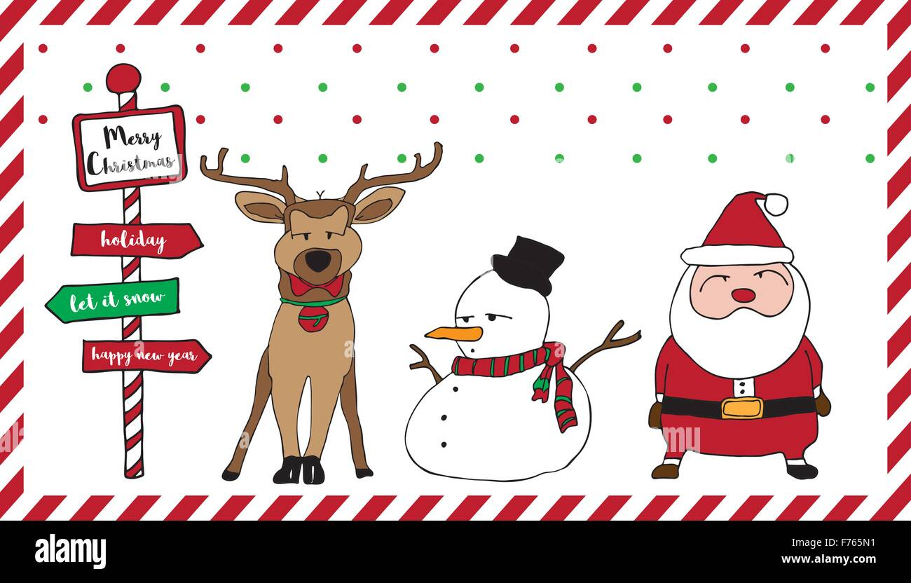 Cute Merry Christmas Wallpaper Dogs Merry Christmas Card Pattern With Santa Reindeer Snowman