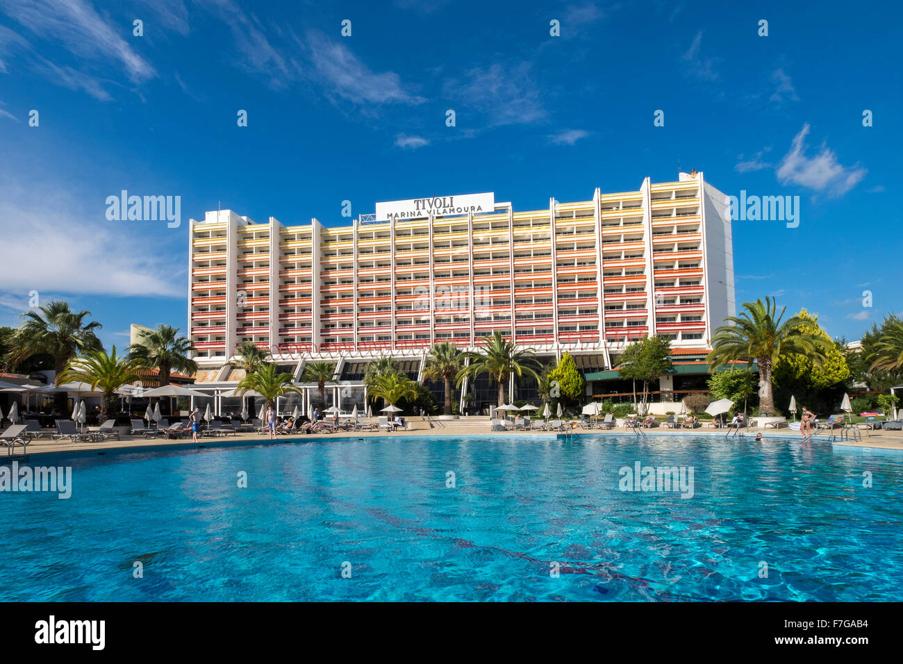 Tivoli Hotels In The Algarve The Hotel Tivoli Marina Vilamoura Portugal Stock Photo