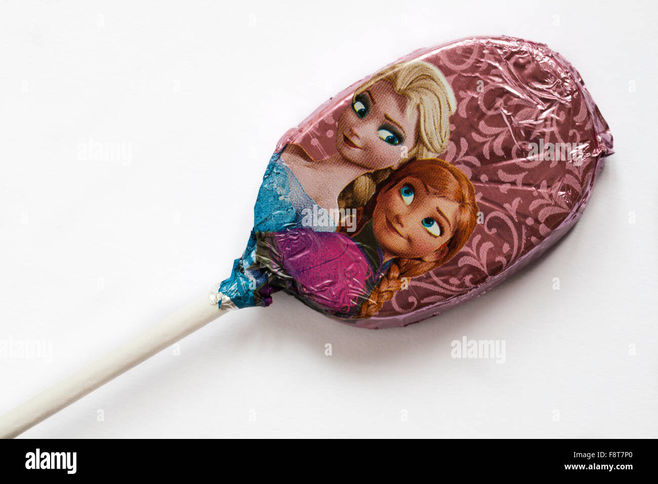 Elsa Anna M S Chocolate Lollies Foil Wrapped With Elsa And Anna Characters