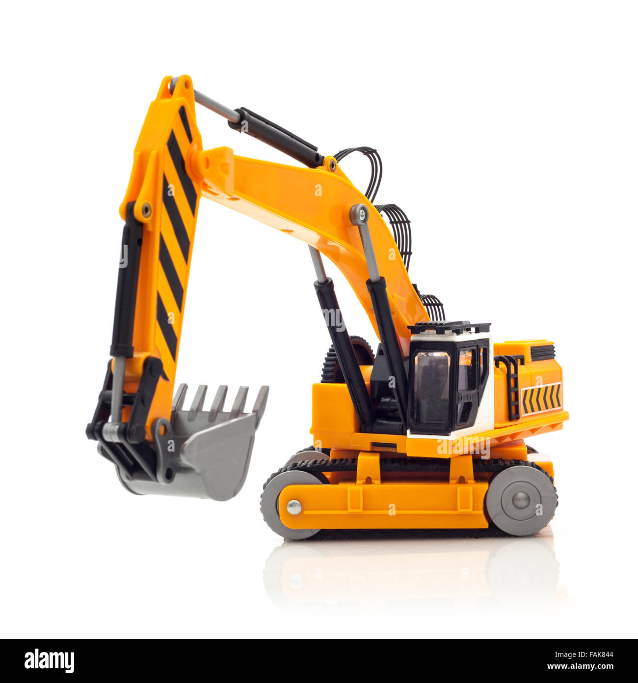 Digger Toy Yellow Digger Toy On A White Background Stock Photo 92621876 Alamy