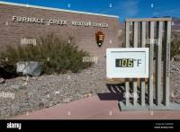 Death Valley, California. Thermometer at Furnace Creek ...