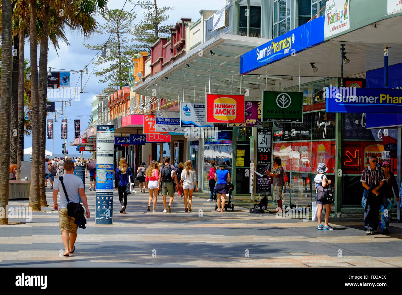 Shopping Com Au Shopping Area Manly Beach Sydney Australia New South Wales Au