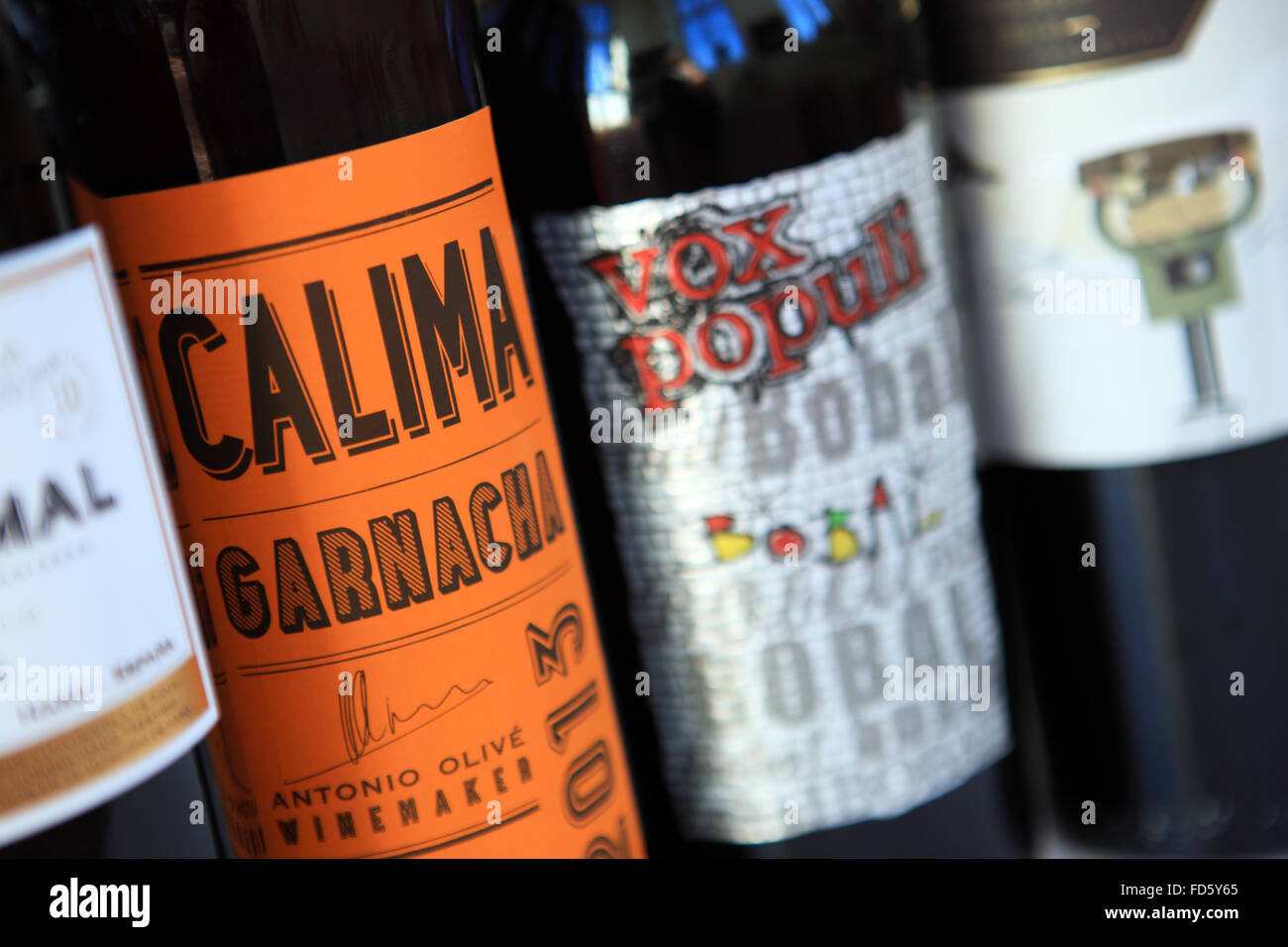Interesting Bottles Bottles Of Red Wine With Interesting Labels Stock Photo 94173469