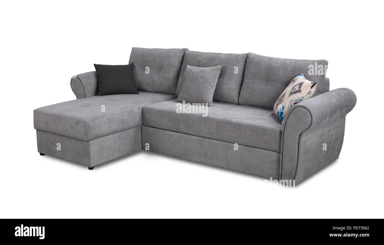Sofa Set Action Upholstery Sofa Corner Set With Pillows Isolated On White