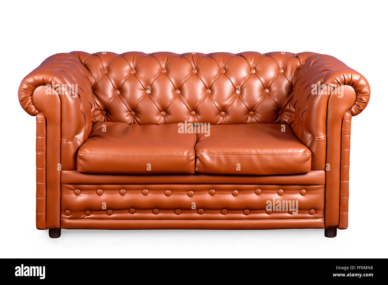 Ledersofas Willhaben Vintage Leather Couch Isolated On White With Clipping Path ...
