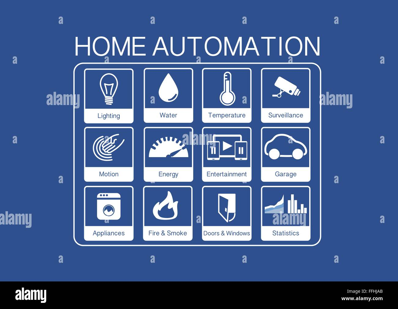 Light Automation Vector Icons For Home Automation To Control A Smart Home Like