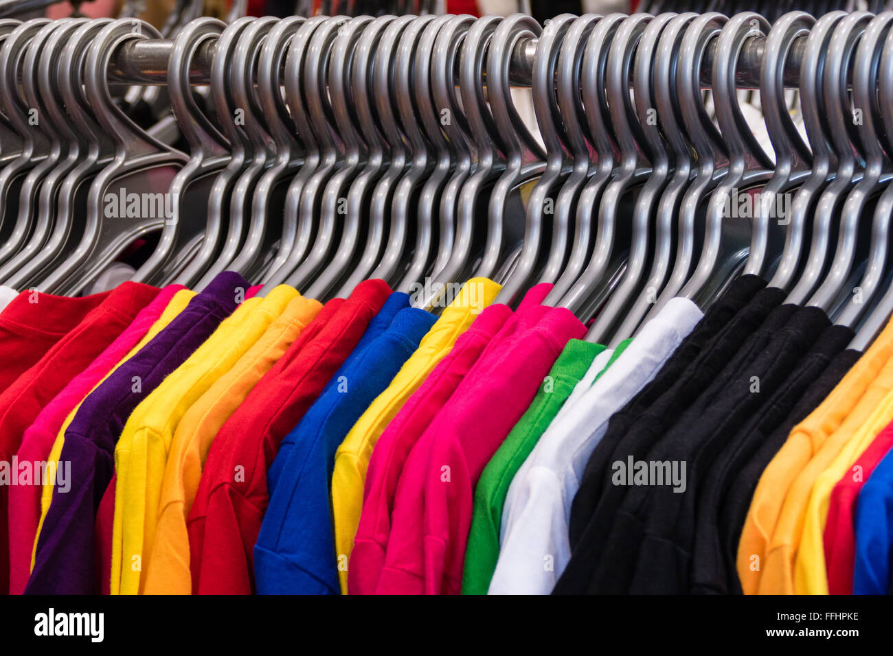 Hanging T Shirts Stock Photos Hanging T Shirts Stock