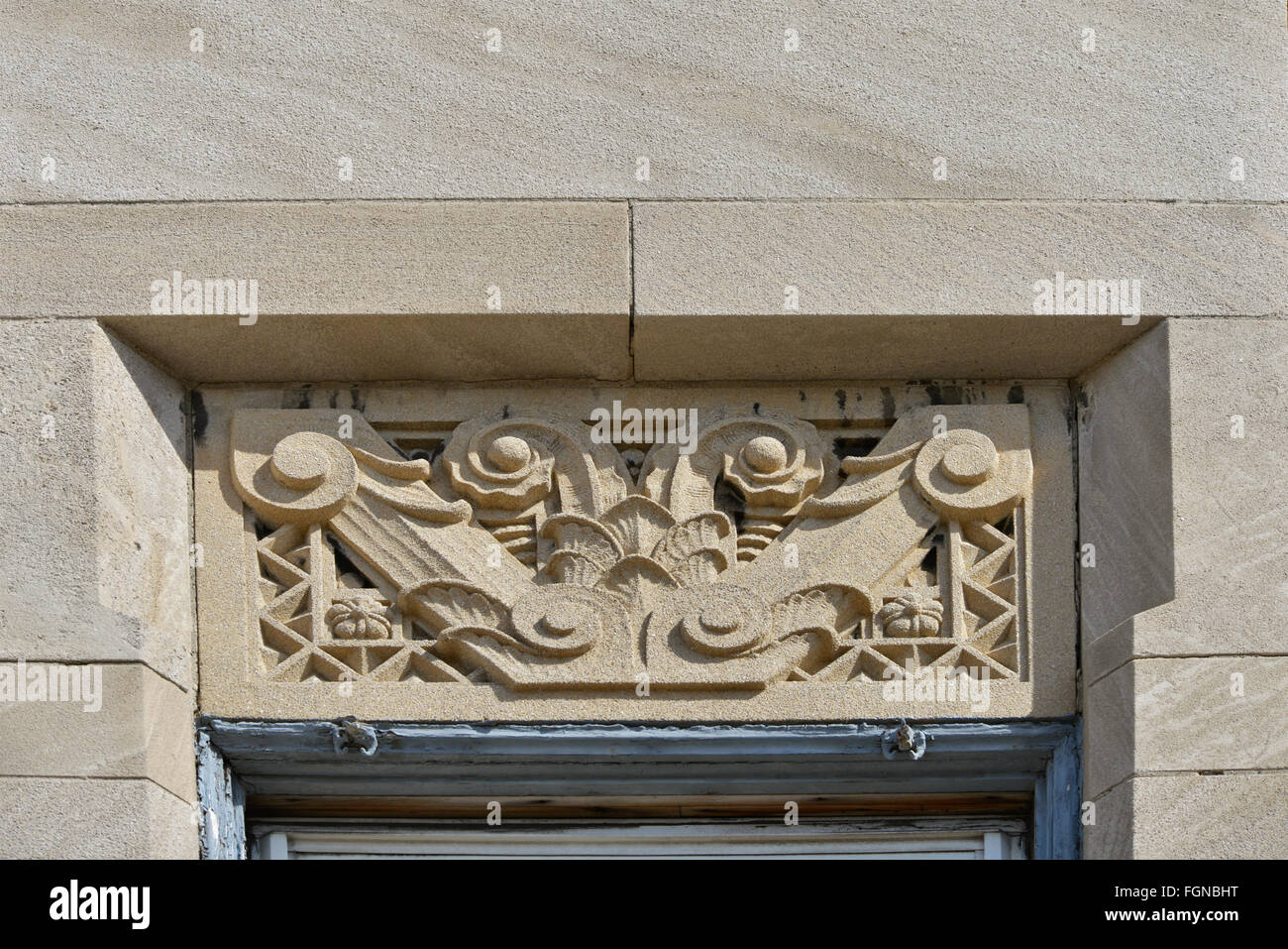 Decoration Art Deco Art Deco Decoration On Older Building Stock Photo 96356452 Alamy