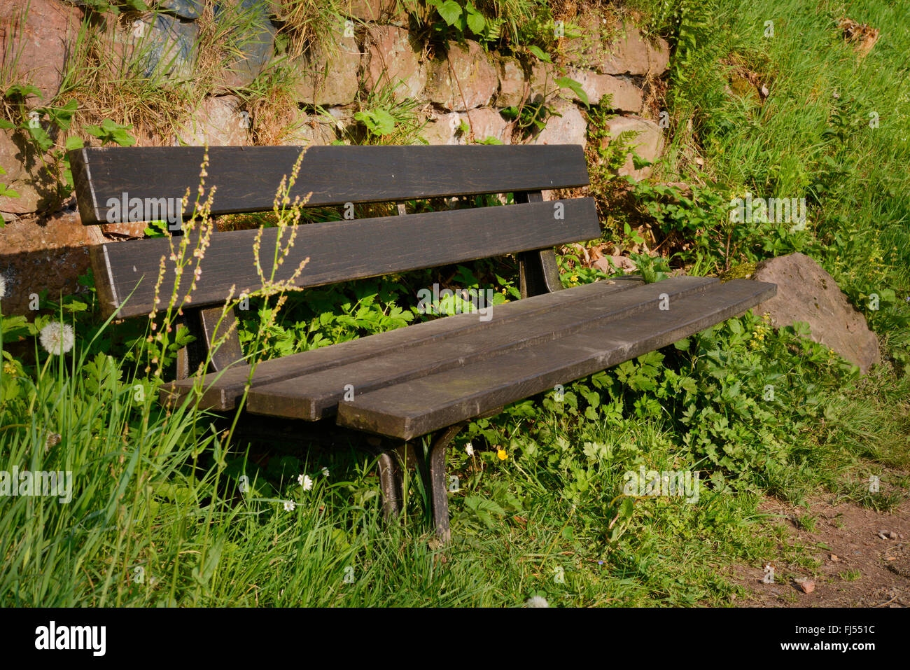 Wooden Park Benches Front Roadside Bench Stock Photos And Roadside Bench Stock Images