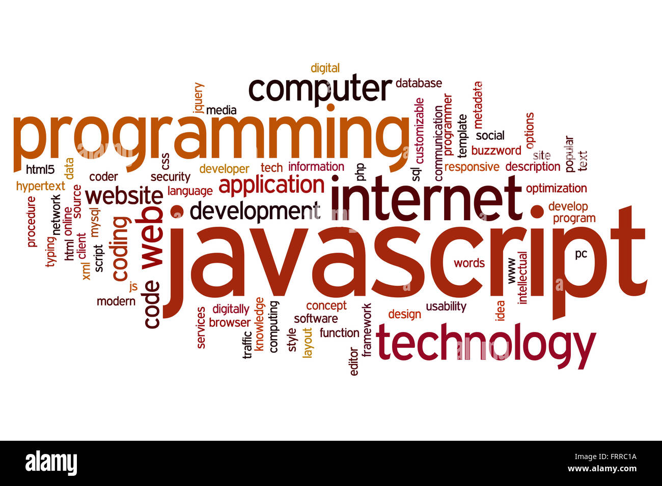 Javascript Cloud Javascript Concept Word Cloud Background Stock Photo 100703270