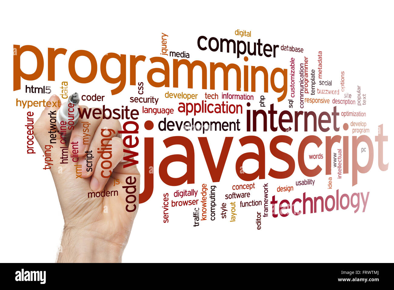 Javascript Cloud Javascript Concept Word Cloud Background Stock Photo 100757122