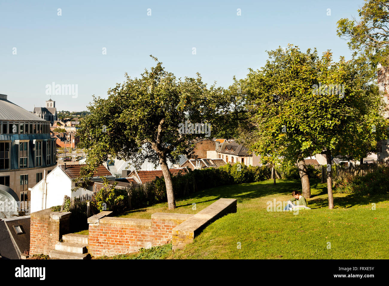 Liege Terrasse Terrasses Des Minimes Terraced Gardens Stock Photos Terrasses