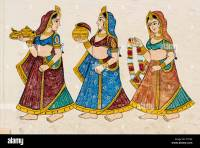 Traditional wall painting, City Palace, Udaipur, Rajasthan ...