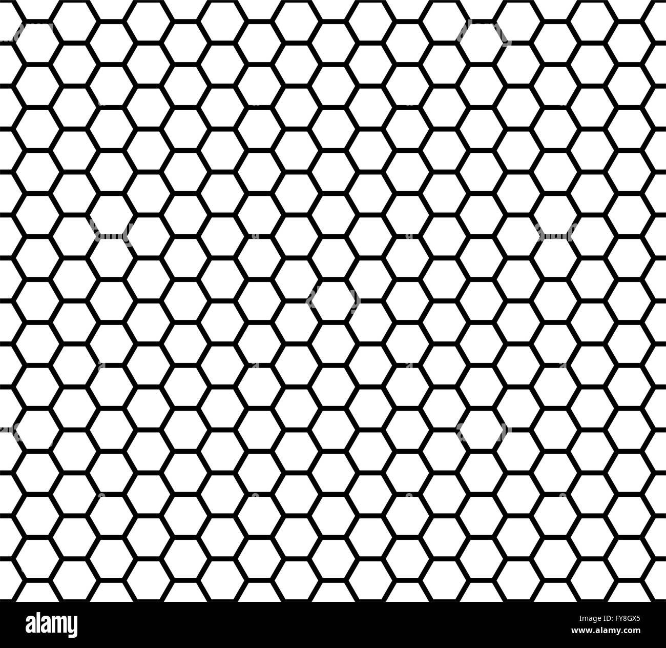 Black And White Geometric Wallpaper Seamless Honeycomb Vector Illustration Stock Vector Art