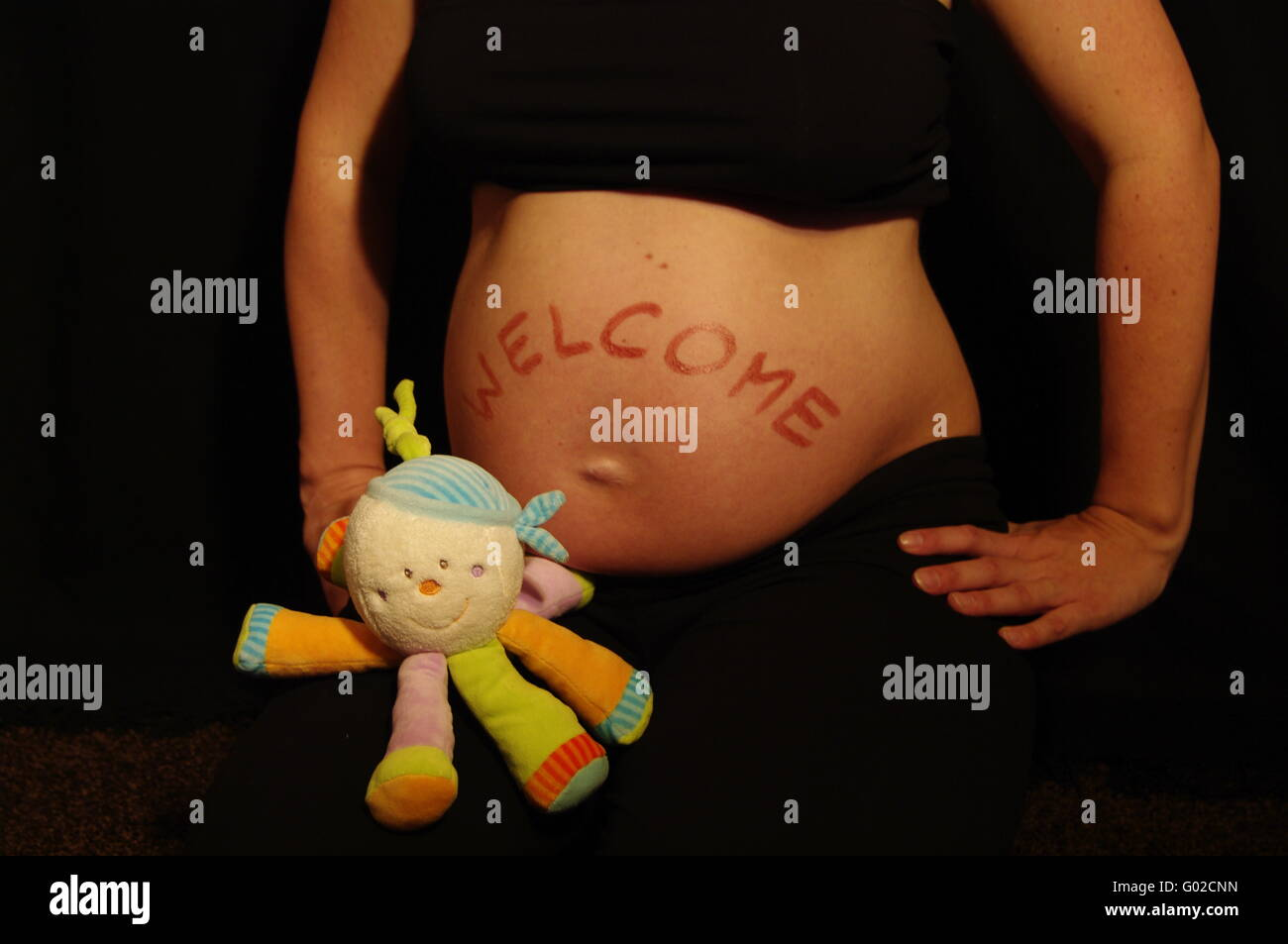 Baby Belly Not Pregnant Stock Photos Baby Belly Not