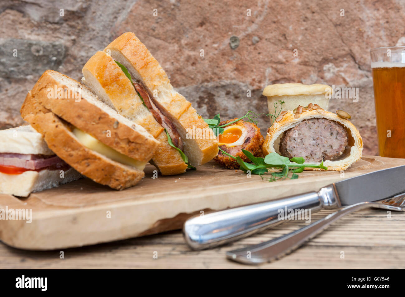 Tudor Farmhouse Hotel Fathers Day Special Lunch Clearwell Forest Of Stock Photo Alamy