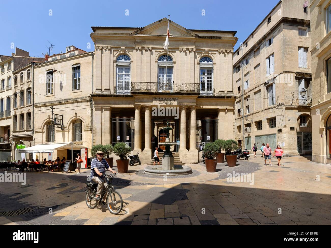 France Herault Montpellier Historical Center The Ecusson The Stock Photo Alamy