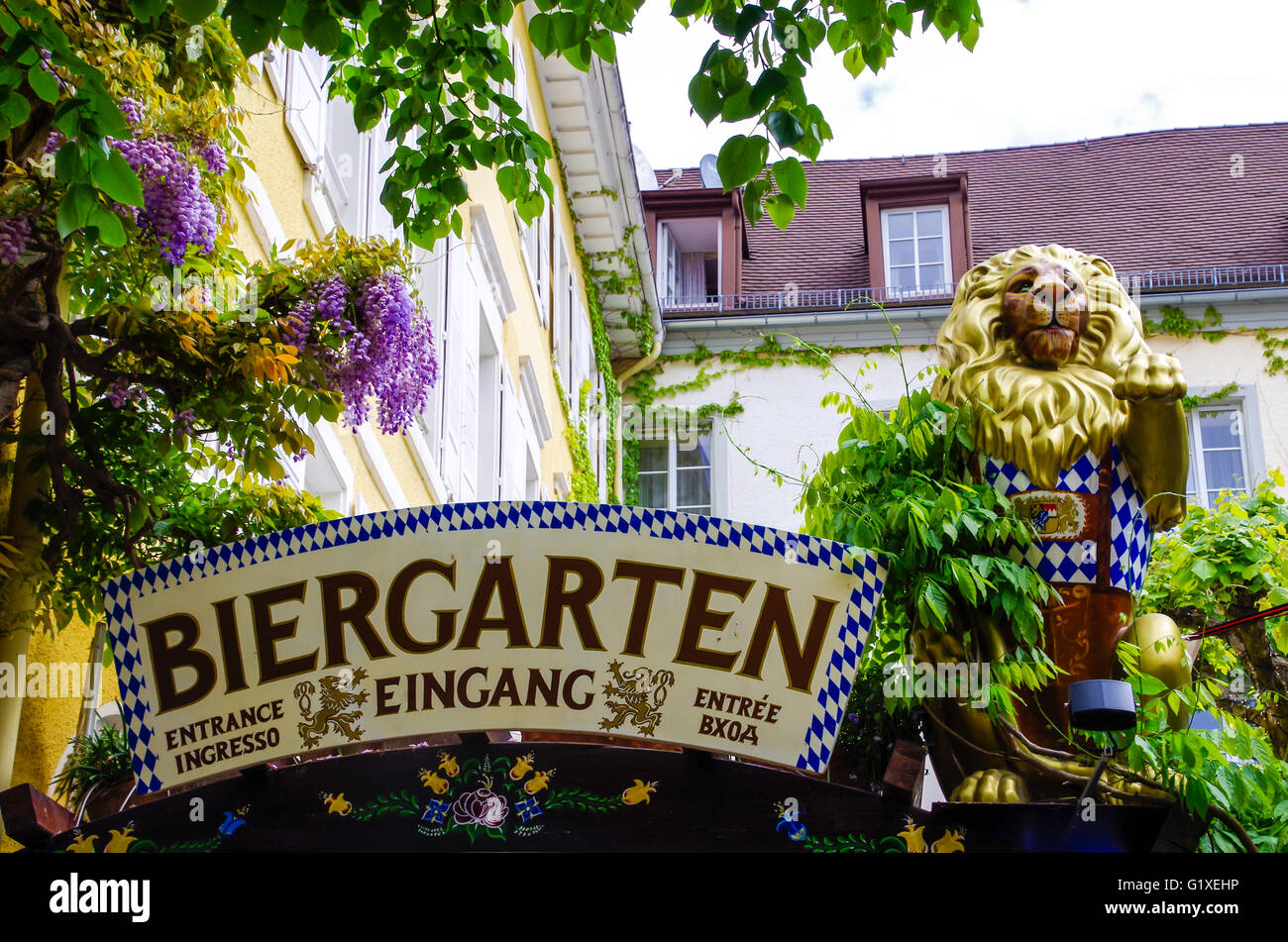Beer Garten Typical German Biergarten Beer Garden Entrance In Baden